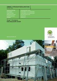 IBU Institut Bauen und Umwelt e.V. - Ytong