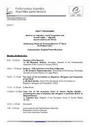 DRAFT PROGRAMME Seminar on migration, social integration and ...