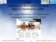 Un nouveau descripteur iconique pour la stabilisation vidéo - LGI2P