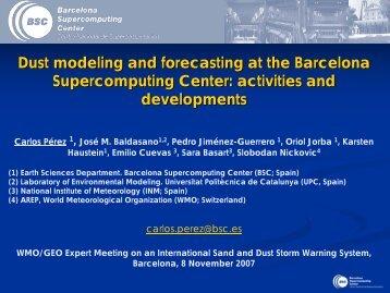Presentation - Barcelona Supercomputing Center