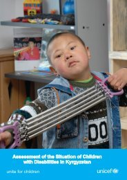 Assessment of the Situation of Children with Disabilities in Kyrgyzstan