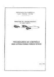procédures de contrôle des opérations forestières