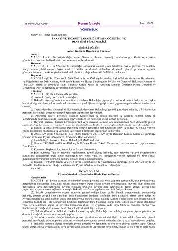Resmî Gazete - Personel Dairesi Başkanlığı - Bilim, Sanayi ve ...