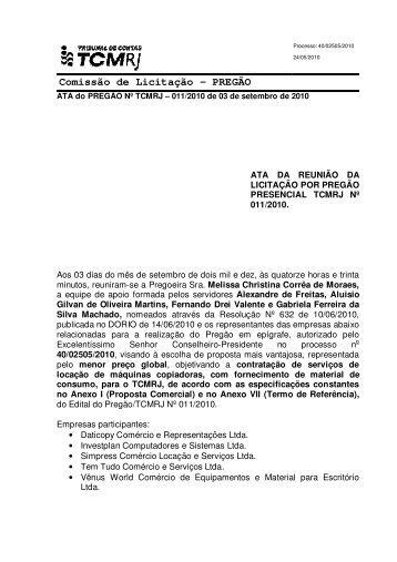 Comissão de Licitação – PREGÃO