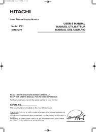 USER'S MANUAL MANUEL UTILISATEUR MANUAL DEL USUARIO