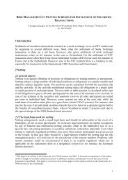 Risk Management in Netting Schemes for Settlement ... - World Bank