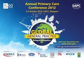 Annual Primary Care Conference 2012 - Eventtrac