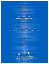 CCPAC / CCOLA 2011 Annual Conference - CCAF-FCVI Inc.
