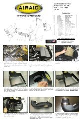 Installation Instructions Part Number 401-299 2011-13 Ford ... - Airaid