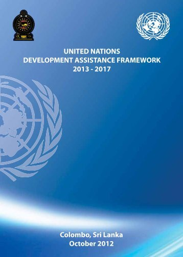 UNDAF 2013 to 2017 - United Nations in Sri Lanka