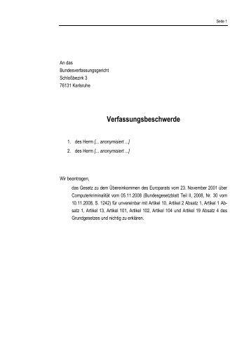 Beschwerde (PDF) - Daten-Speicherung.de – minimum data ...