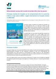 Déterminants sociaux de la santé et du bien-être chez les jeunes