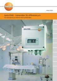 testo 6340 - transmitter för differenstryck - Nordtec Instrument AB