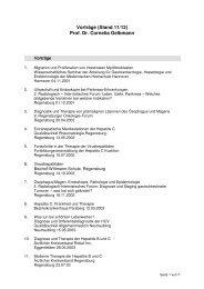 Vortragsliste Prof. Dr. Gelbmann - Gastroenterologie im ...