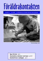 Läs mer i Föräldrakontakten [pdf] - Synskadades Riksförbund
