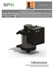 Auto Recharging Dehydrating Breather Manual - SPX Transformer ...