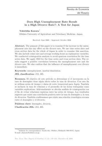 A Test for Japan - Universidad del Rosario