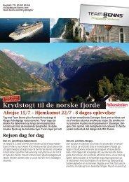 Krydstogt til de norske fjorde - Folkeskolen