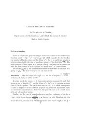 LATTICE POINTS ON ELLIPSES J.Cilleruelo and A ... - ICMAT