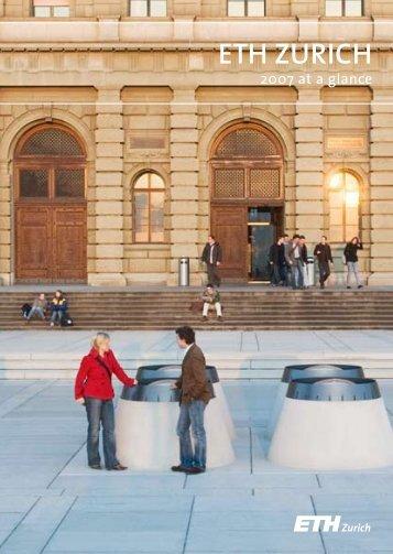 2007 at a glance - ETH - Finanzen und Controlling