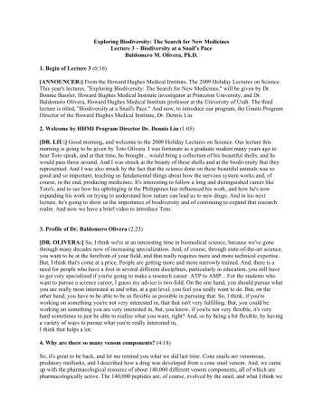 Lecture 3 (PDF) - Howard Hughes Medical Institute