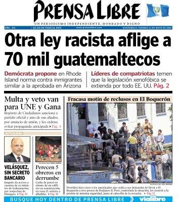 Multa y veto van para UNE y Gana - Prensa Libre