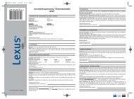 Leverandørbrugsanvisning / Sikkerhedsdatablad LEXUS®