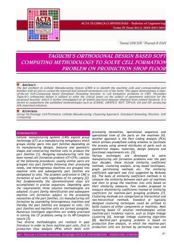 taguchi's orthogonal design based soft computing methodology to ...