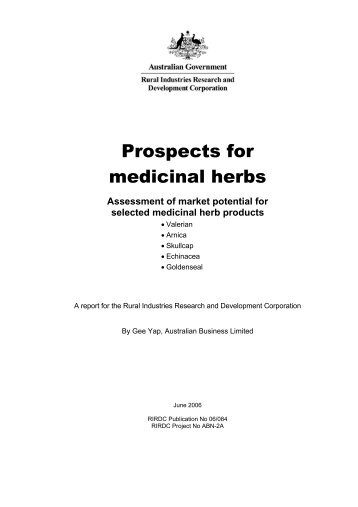 Prospects for medicinal herbs - Bad Request