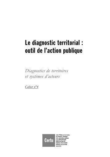 Le diagnostic territorial : outil de l'action publique - Lara