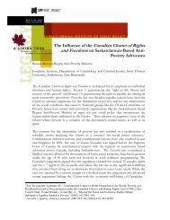 The Influence of the Canadian Charter of Rights and Freedoms on ...