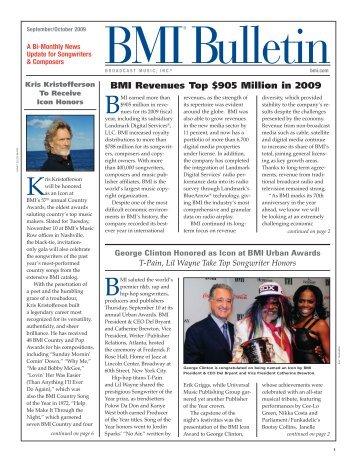 BMI Bulletin September/October 2009 - BMI.com