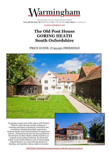 The Old Post House GORING HEATH South ... - Warmingham