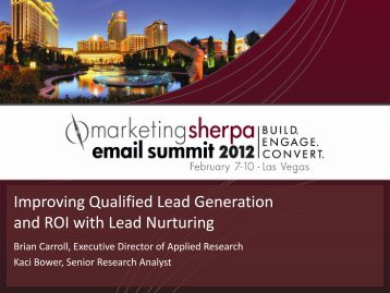 Improving Qualified Lead Generation and ROI with Lead ... - meclabs