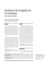 Incidencia de la logística en el marketing* - Universidad de San ...