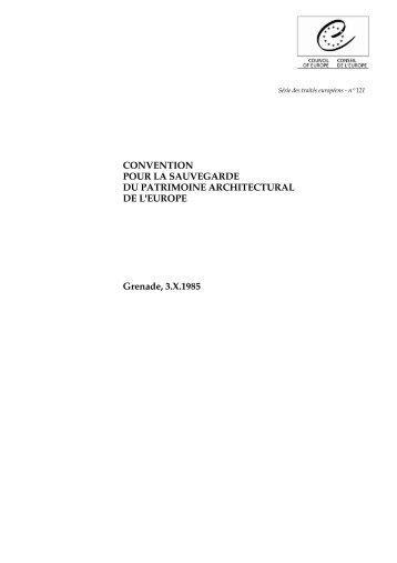 Convention de Grenade 1985 - SKR