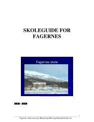 SKOLEGUIDE FOR FAGERNES - Lenvik kommune