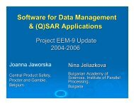 Software for Data Management & (Q)SAR Applications - Cefic LRI