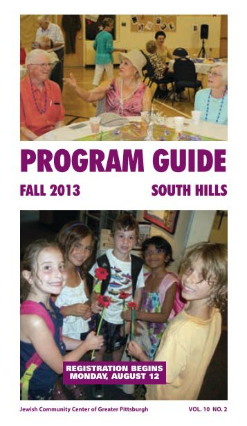 program guide - The Jewish Community Center of Greater Pittsburgh