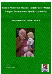 Health Promotion Quality Initiatives for Older People: Evaluation of ...