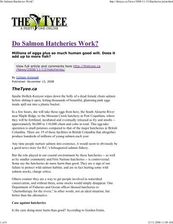 Do Salmon Hatcheries Work? - Watershed Watch Salmon Society