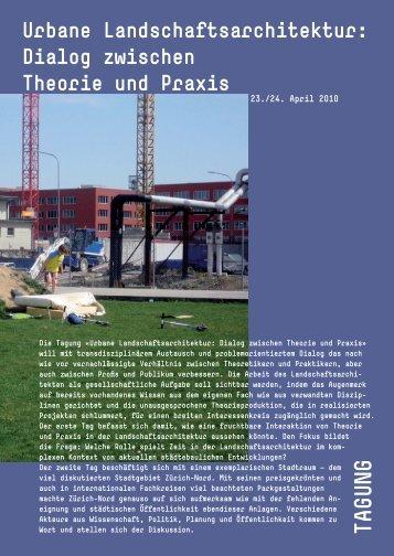 Urbane Landschaftsarchitektur: Dialog zwischen ... - Gtla.hsr.ch