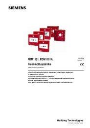 Painike FDM1101 ja FDM1101A - Siemens