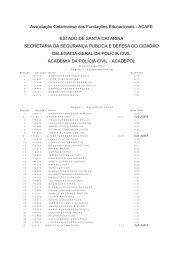 Associação Catarinense das Fundações Educacionais ... - Rbsdirect