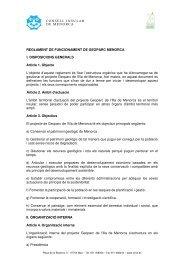 REGLAMENT GEOPARC - Consell Insular de Menorca