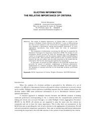 eliciting information the relative importance of criteria - Lamsade ...