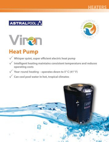 APV-105 Viron Heat Pump.pdf - Astral Pool USA