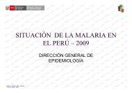 SITUACIÓN DE LA MALARIA EN EL PERÚ – 2009
