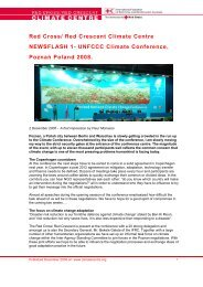 Red Cross/ Red Crescent Climate Centre NEWSFLASH 1- UNFCCC ...
