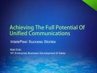 IntelePeer Success Stories - UCStrategies.com